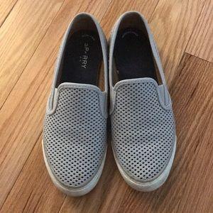 Sperry slide on mesh sneakers gray 8.5